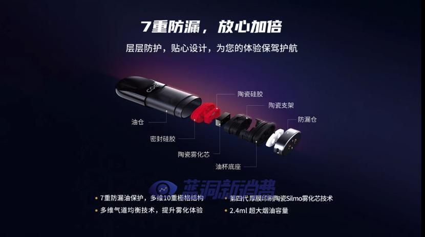 COEE可逸系列雾化产品即将上市:7重防漏油,2.4ml大容量烟弹